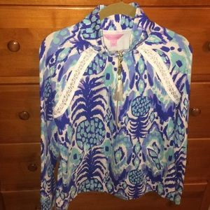 Lilly Pulitzer Skipper Popover in Serene Blue